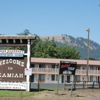 Welcome to Kamiah Idaho sign