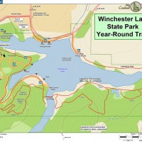 Trail Map of Winchester Lake State Park