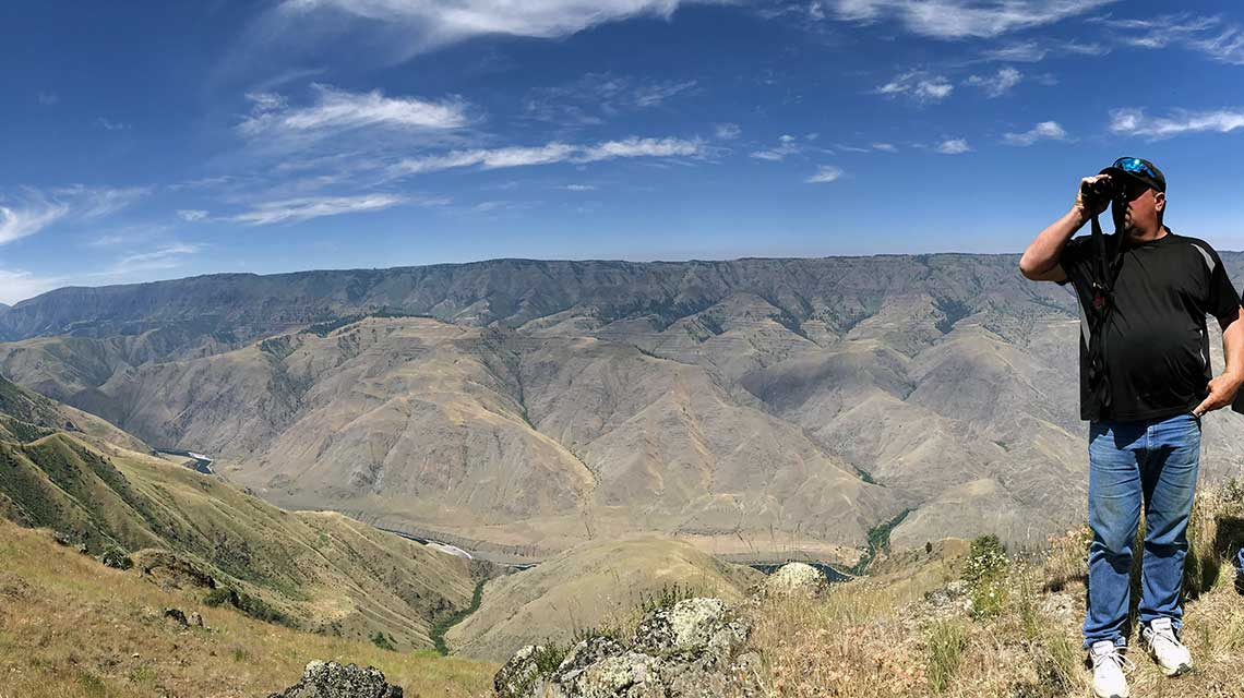 Overlooking Hells Canyon & Snake River